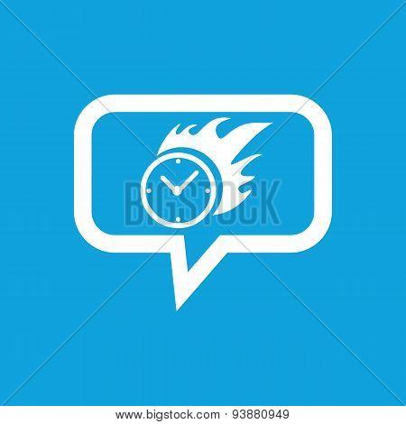 Burning clock message icon