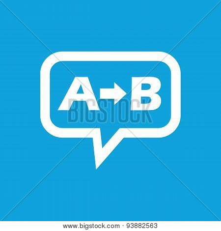 A to B message icon