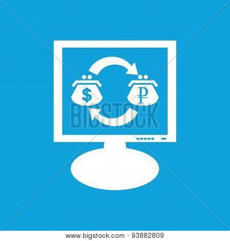 Dollar-ruble exchange monitor icon