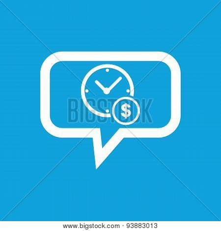 Time is money message icon