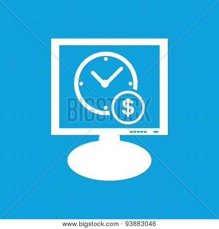 Time is money monitor icon