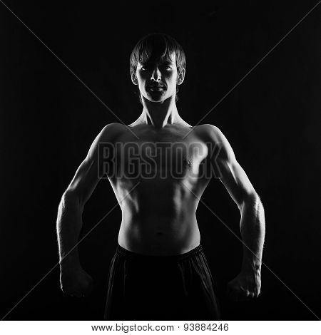 Athlete Fighter Frontal Photo