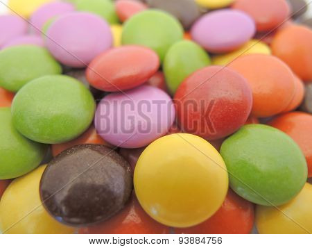 multicolor chocolate bonbons