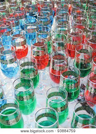 multicolor party glasses