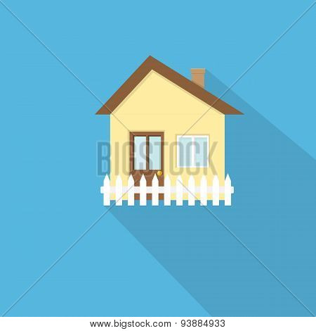 flat style house icon