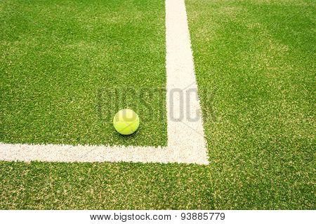 Tennis Court With Tennis Ball