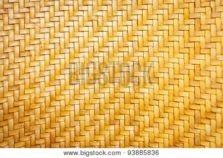 Close Up Yellow Leather Weave Pattern Texture