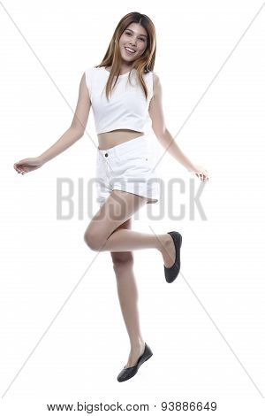 Beautiful Woman Portrait. Isolated On White Background