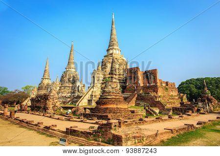 Wat Phrasisanpetch In The Ayutthaya Historical Park, Ayutthaya