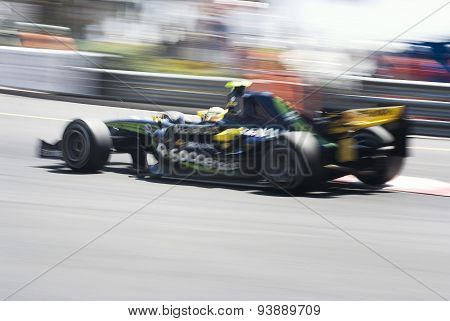 Formula 1 car with motion blur