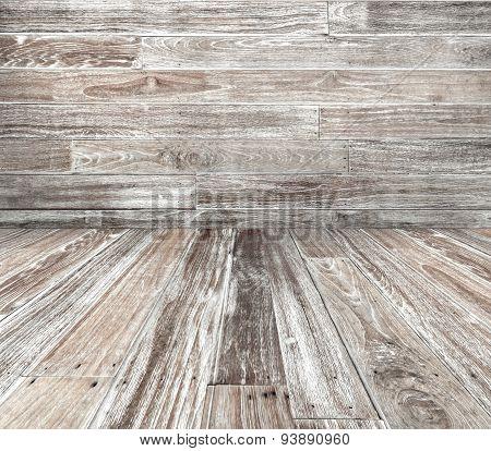 Grey Wood Texture With Corner View