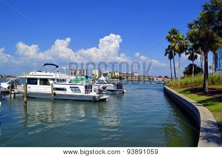 Clearwater Beach harbour in Florida