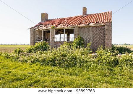 Derelict Old Building In A Rural Area