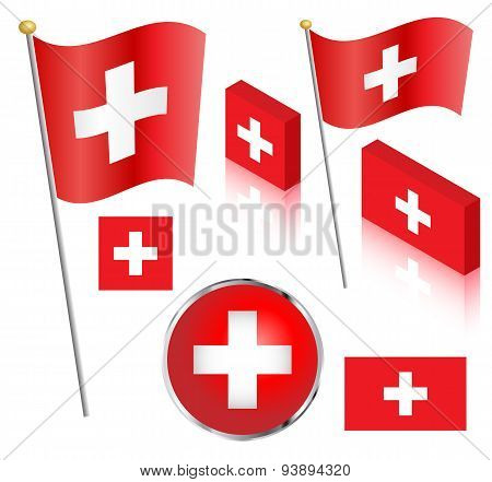 Swiss Flag Set