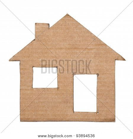 Paper House Isolated On White Background