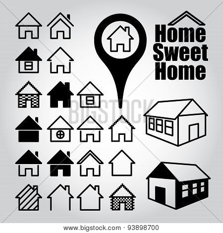 Set of home icons