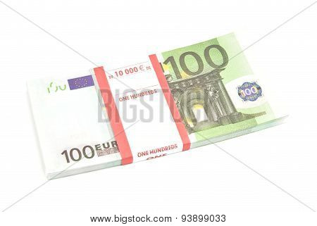 Pack Of One Hundred Euro Notes