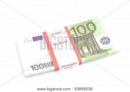 Pack Of One Hundred Euro Banknotes