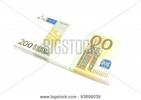 Pack Of Two Hundred Euro Notes