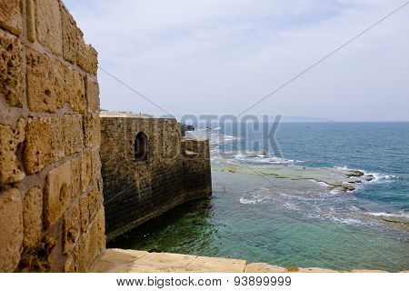 Old Walls Of Acre, Israel