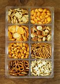pic of pretzels  - Various salty snacks  - JPG