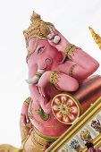 image of ganesh  - the beautiful Ganesh statue in temple of thailand - JPG