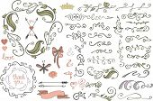 picture of baby easter  - Colored Doodles flourish border - JPG
