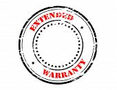 stock photo of extend  - Rubber stamp with text extended warranty inside vector illustration - JPG