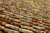 picture of roof tile  - Roof tiles background - JPG