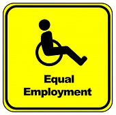 picture of disabled person  - People with disabilities must have equal opportunities on the job market - JPG