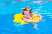 stock photo of children beach  - Kids in swimming pool - JPG