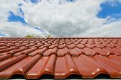 picture of roof tile  - Close - JPG