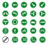 pic of traffic sign  - traffic sign of regulatory for warming on road safety street sign vector set - JPG
