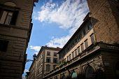 stock photo of piazza  - Piazza della Repubblica building against blue sky - JPG