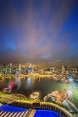 picture of marina  - Singapore Skyline and view of skyscrapers on Marina Bay - JPG