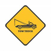 picture of towing  - Tow truck icon on a white background - JPG