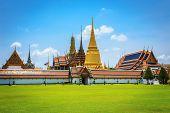 stock photo of emerald  - Wat Phra Kaew Temple of the Emerald Buddha Bangkok Thailand - JPG