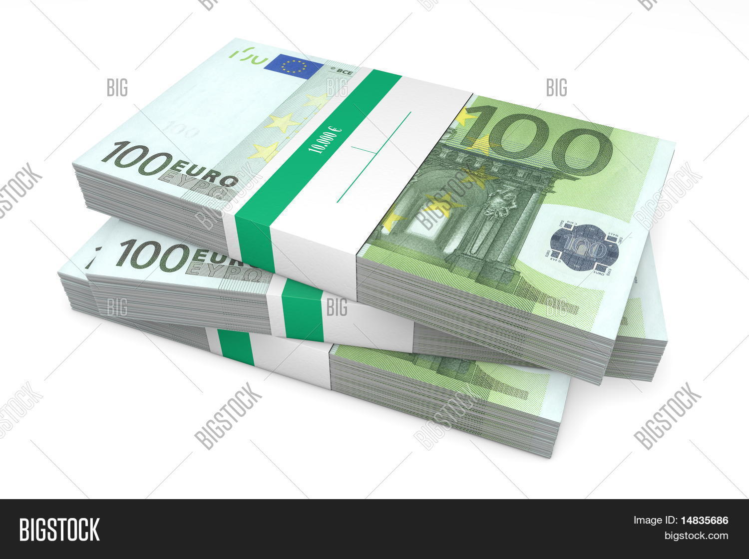 Three packets of 100 euro notes with bank wrapper stock photo stock images bigstock - Cuisine 10000 euros ...