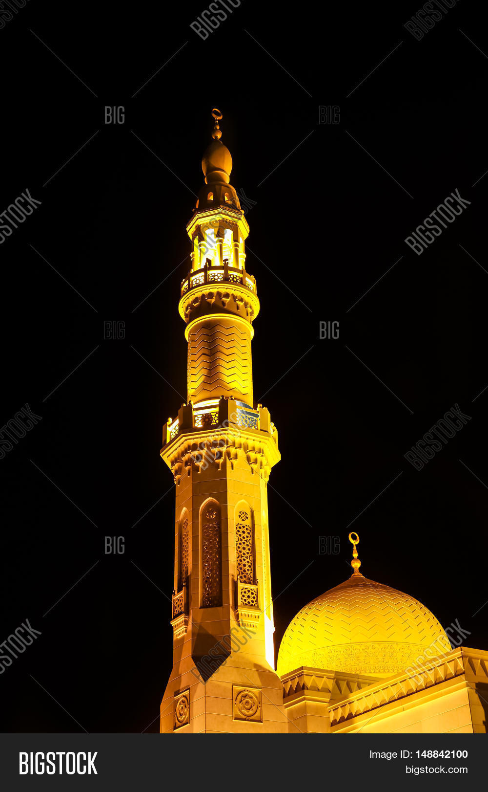 Minaret jumeirah mosque illuminated image photo bigstock the minaret of jumeirah mosque illuminated at night in jumeirah beach dubai uae biocorpaavc