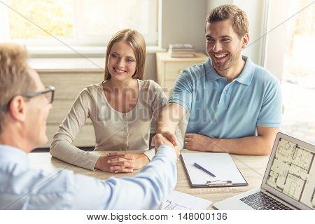 Couple Visiting Realtor