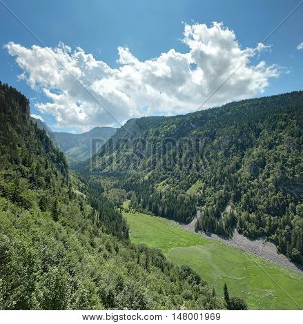 Susica Canyon and Susicko Lake dried in Durmitor National Park, Montenegro