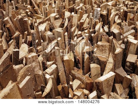 folded pile of firewood as background photo for micro-stock