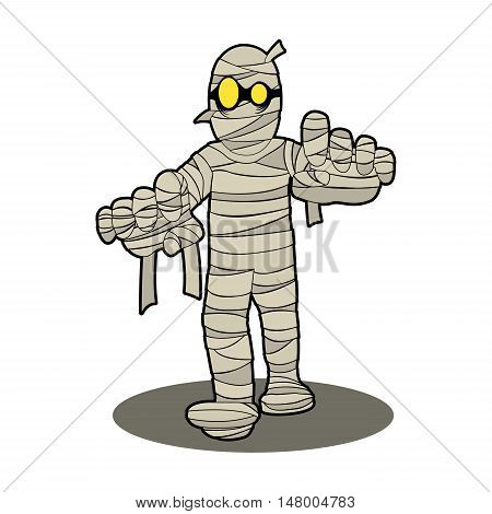 mummy Egypt halloween night spooky cartoon character