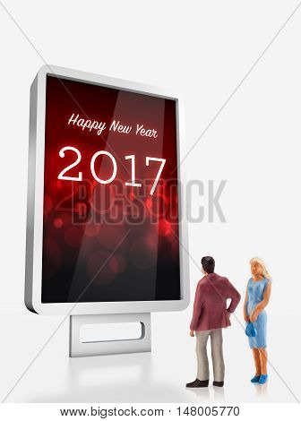 People are celebrating the New Year 2017