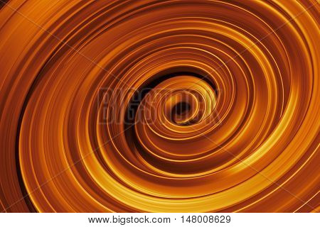 Metalic  Reflective Vortex. Twisted 3D Rendering Background.