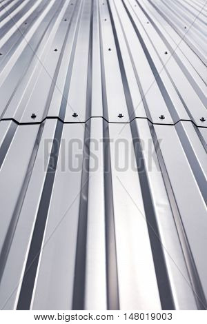 Shining Texture Of Corrugated Industrial Metal Roof