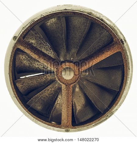 Vintage Looking Rusty Old Fan Isolated