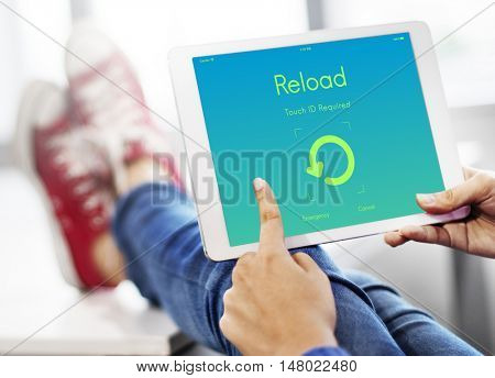 Reload Update Upgrade New Version Concept