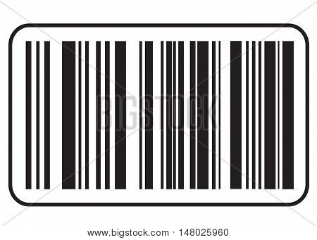 barcode icon, Black bar code icon. Symbol about shopping concept.
