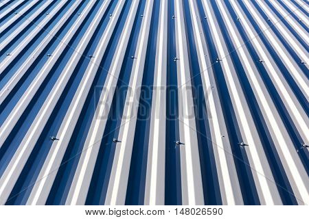 Galvanized Metal Steel Roof Under Direct Sunlight